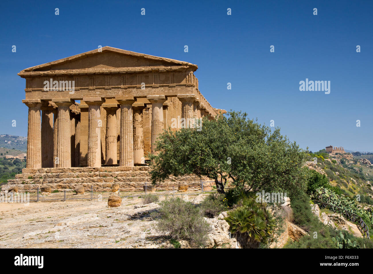 Vallée des Temples, Agrigente, Sicile, Italie Photo Stock
