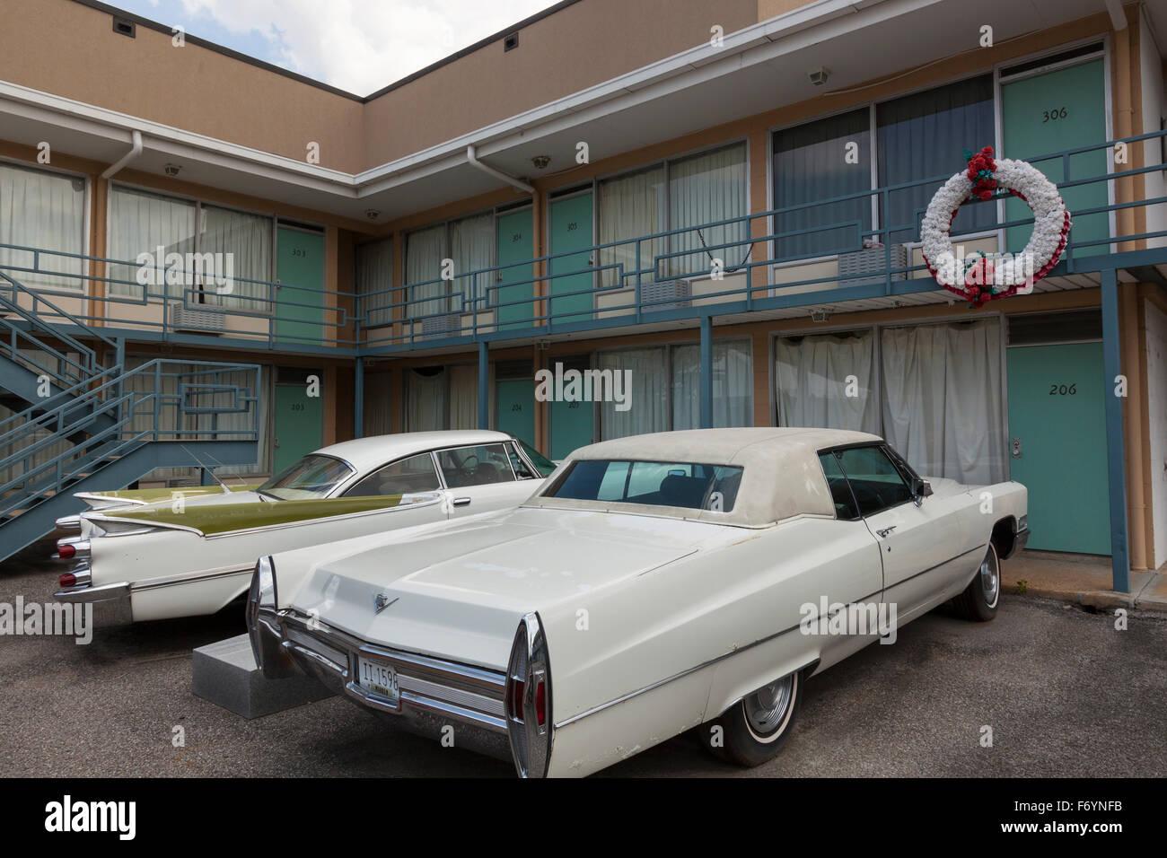 Le Musée National des Droits Civils au Lorraine Motel de Memphis, Tennessee, où Martin Luther King a été assassiné Banque D'Images