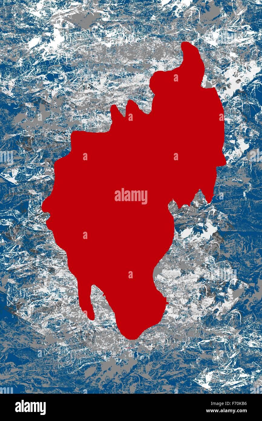 Illustration, tripura Plan de situation, l'Inde, l'Asie Photo Stock