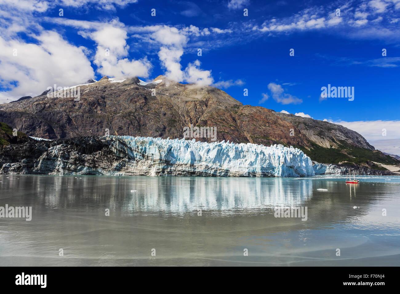 Margerie Glacier dans le Parc National de Glacier Bay, Alaska Photo Stock