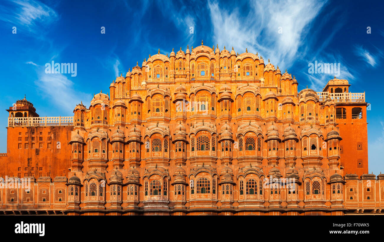 Hawa Mahal (palais des vents, Jaipur, Rajasthan Photo Stock