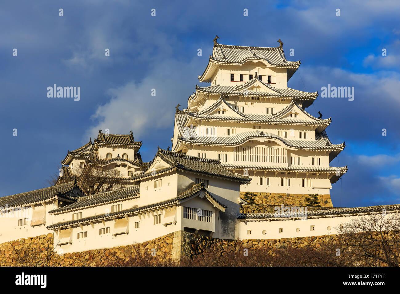 Colline du Château de Himeji, également appelé héron blanc château dans la préfecture Photo Stock
