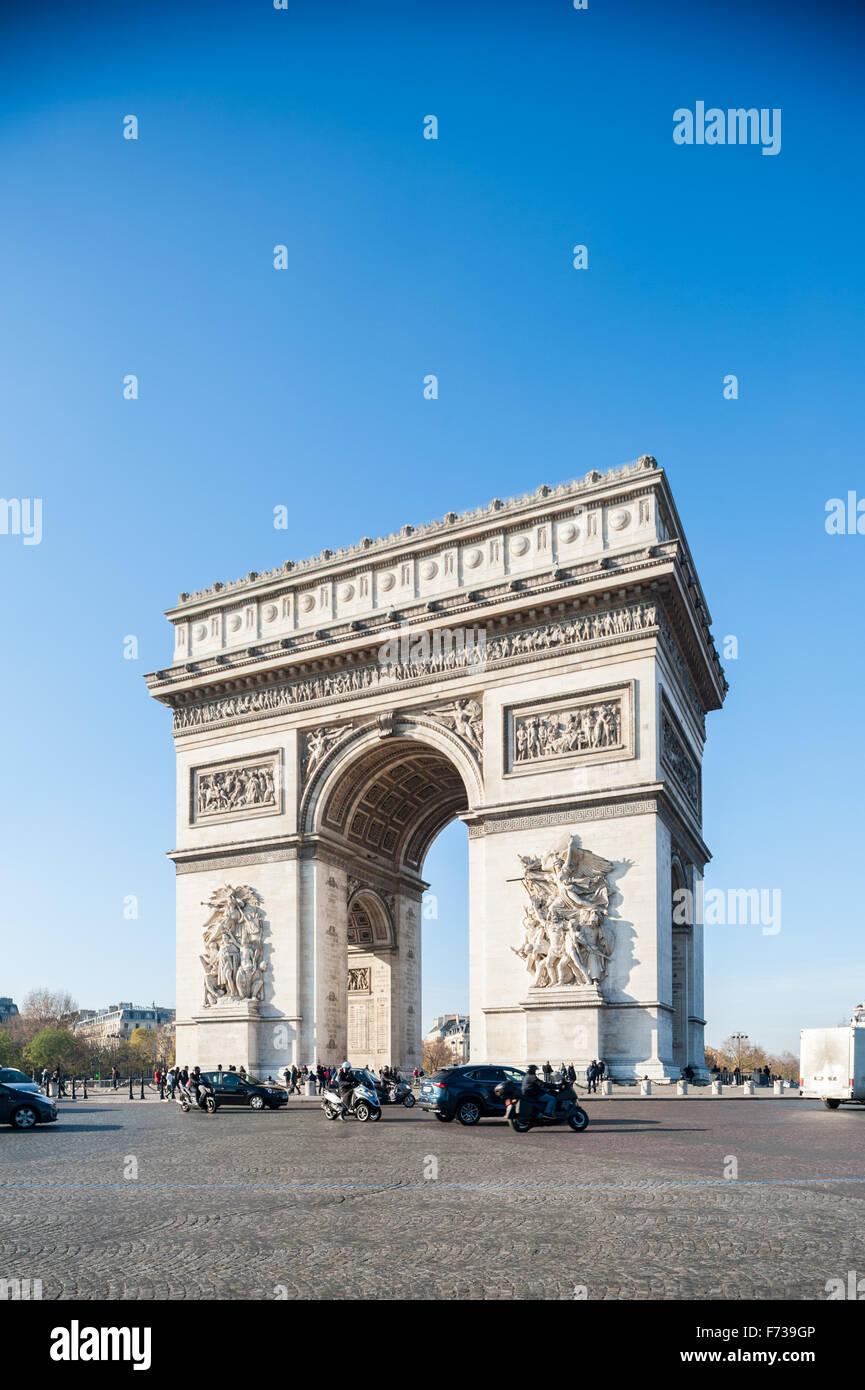France, Paris, Arc de triomphe de l'etoile Photo Stock