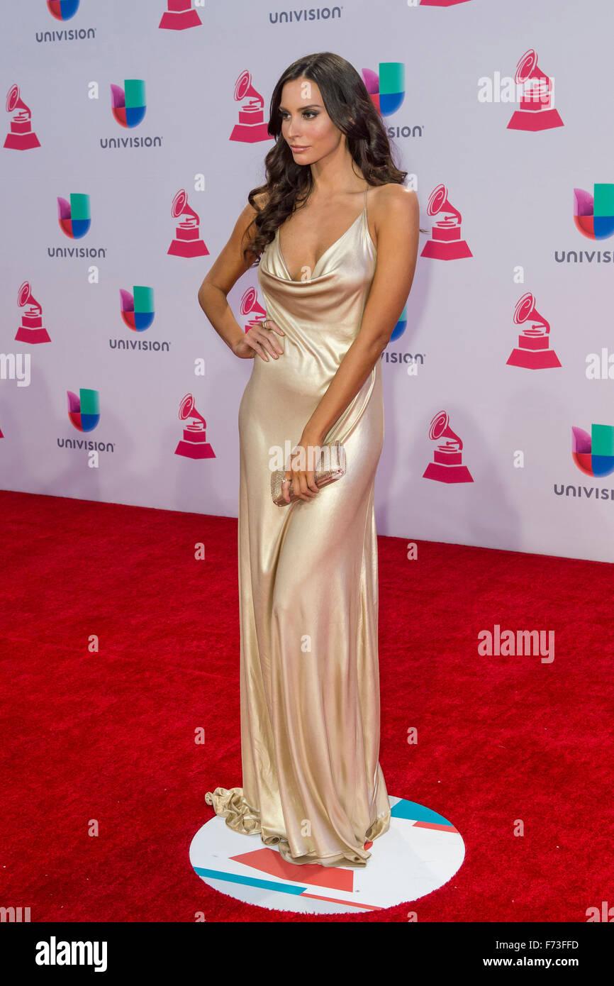 Genesis Rodriguez actrice assiste à la 16e Conférence annuelle des Latin Grammy Awards au MGM Grand Arena Photo Stock