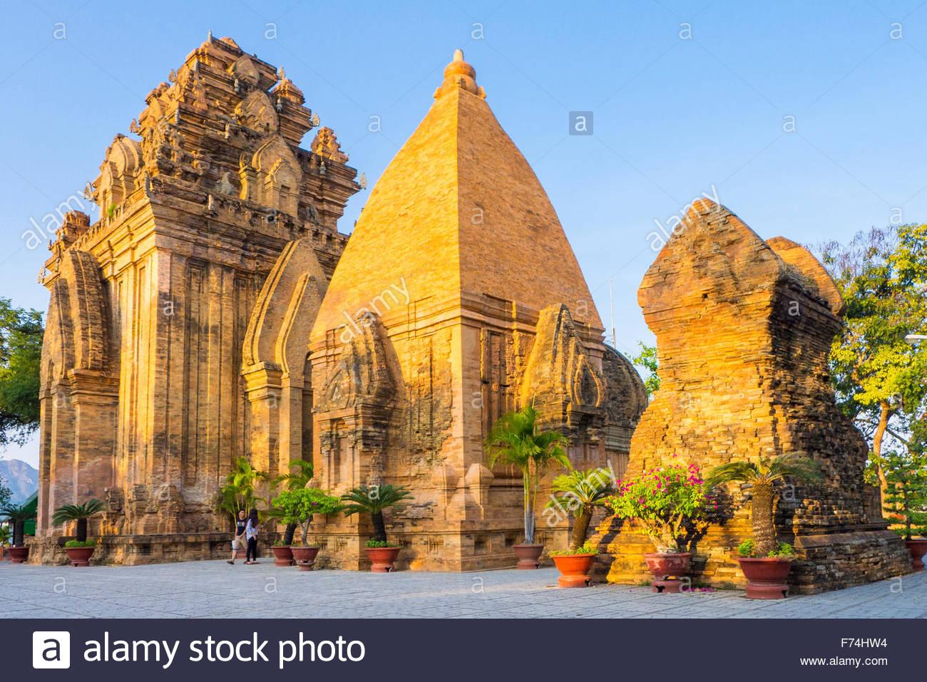 Temple de Po Nagar Cham tours, Nha Trang, province de Khanh Hoa, Vietnam Photo Stock