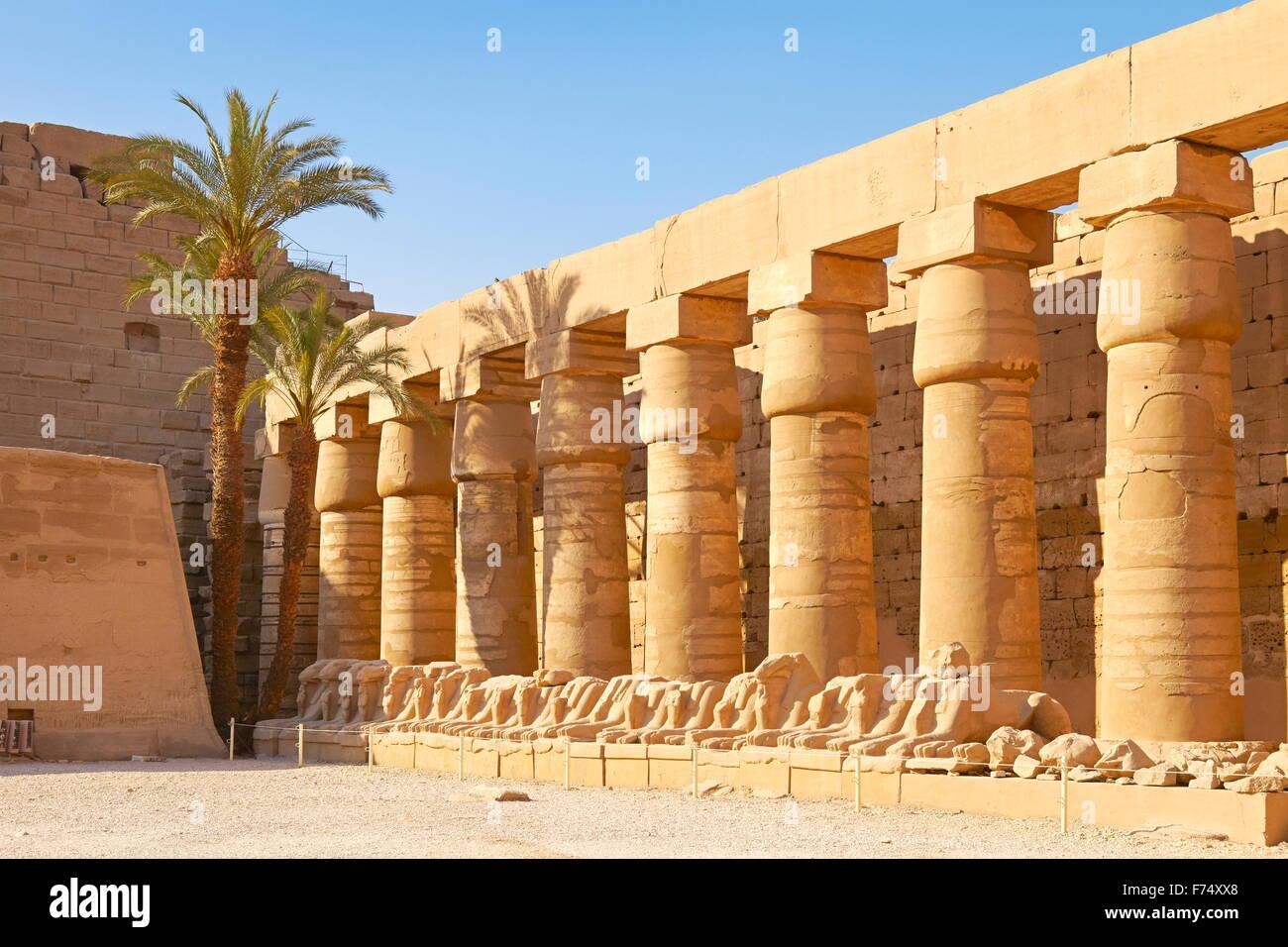 Egypte - Temple de Karnak Photo Stock