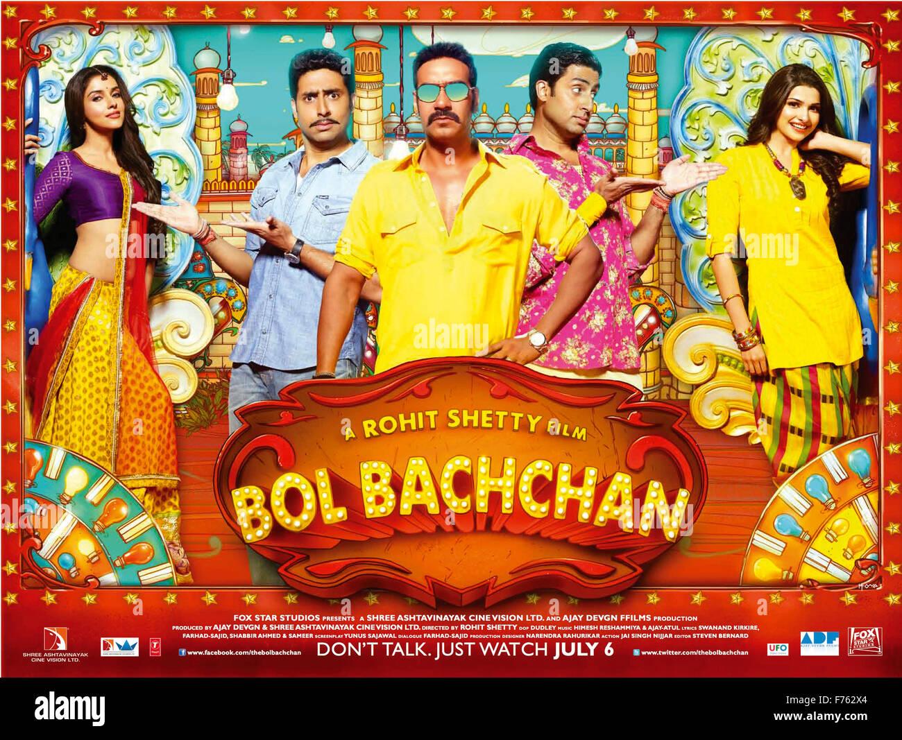 Hindi bollywood indien affiche de film film de bol bachchan l'Inde Photo Stock