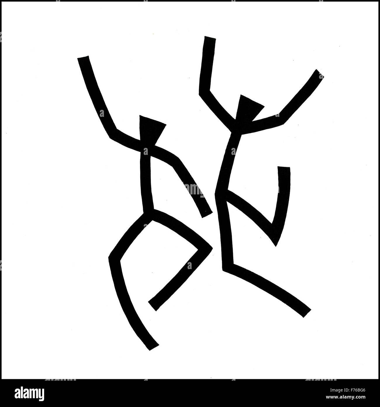 Dessin de ligne de danse Illustration Photo Stock