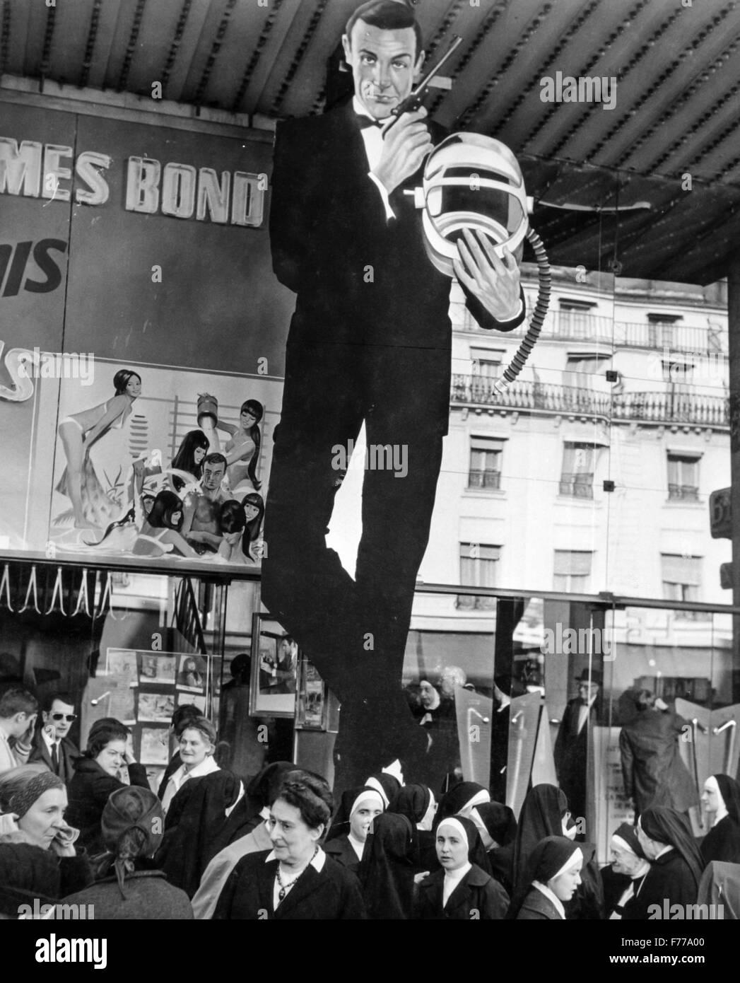 Affiche du film James Bond,Paris,France,1967 Photo Stock