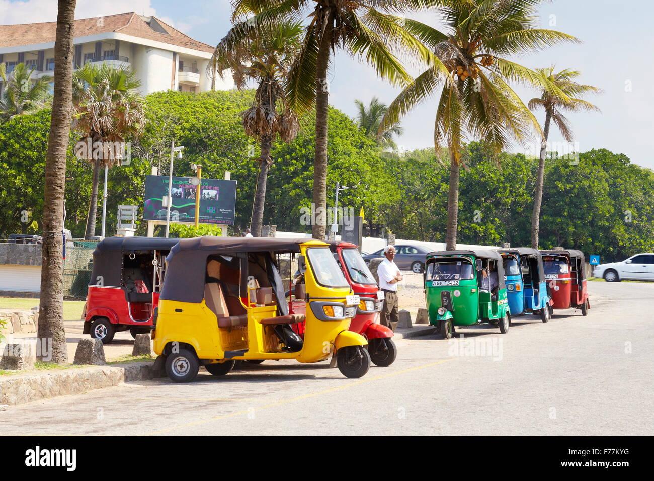 Sri Lanka - COLOMBO, tuk tuk taxi, moyen de transport typique Photo Stock