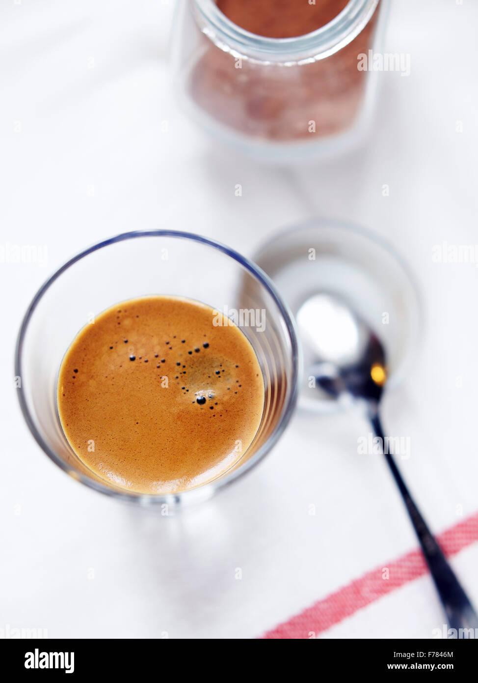 Depuis le sommet d'espresso Photo Stock