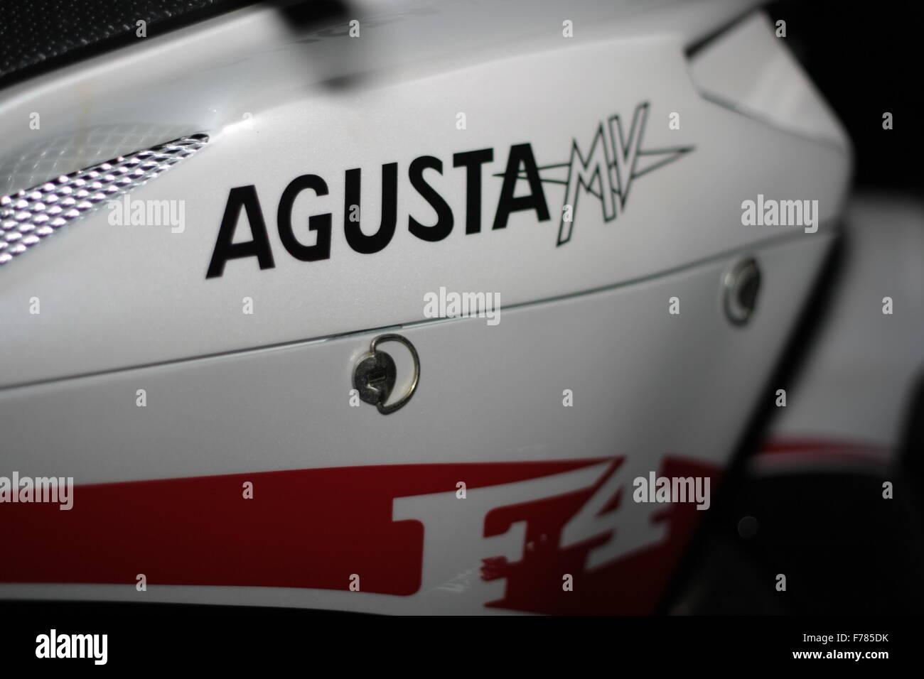 MV AGUSTA F4 Logo moto close up Banque D'Images