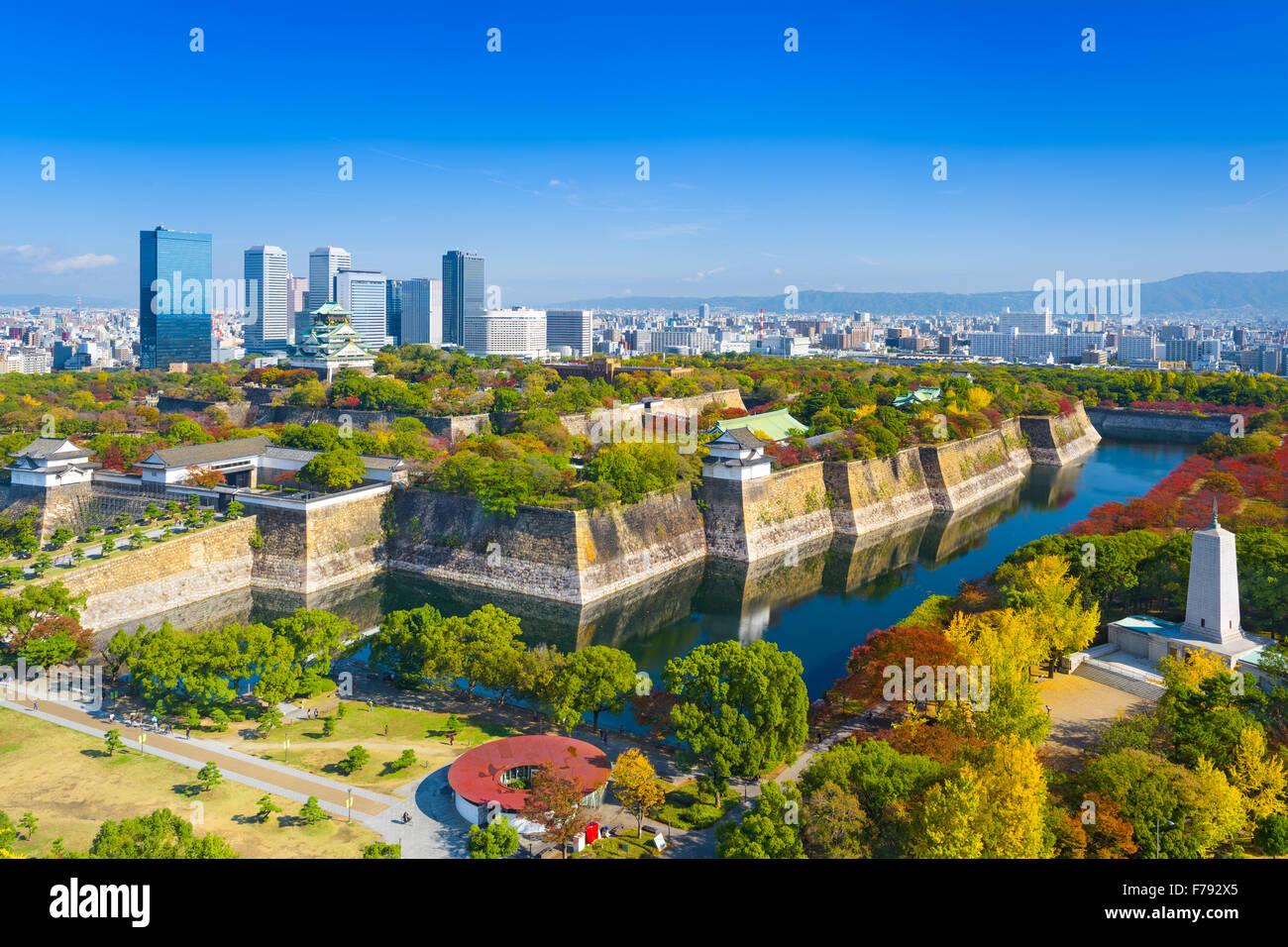 Osaka, Japon skyline at Osaka Castle Park. Photo Stock