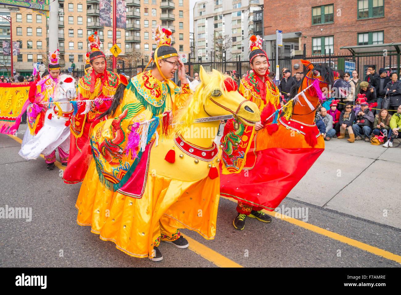 Défilé du Nouvel An chinois, année du cheval Photo Stock