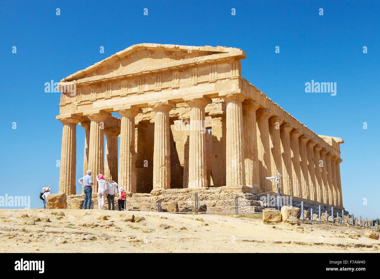 Agrigente - Temple of Concordia, Vallée des Temples (Valle dei Templi), Agrigente, Sicile, Italie l'UNESCO Photo Stock