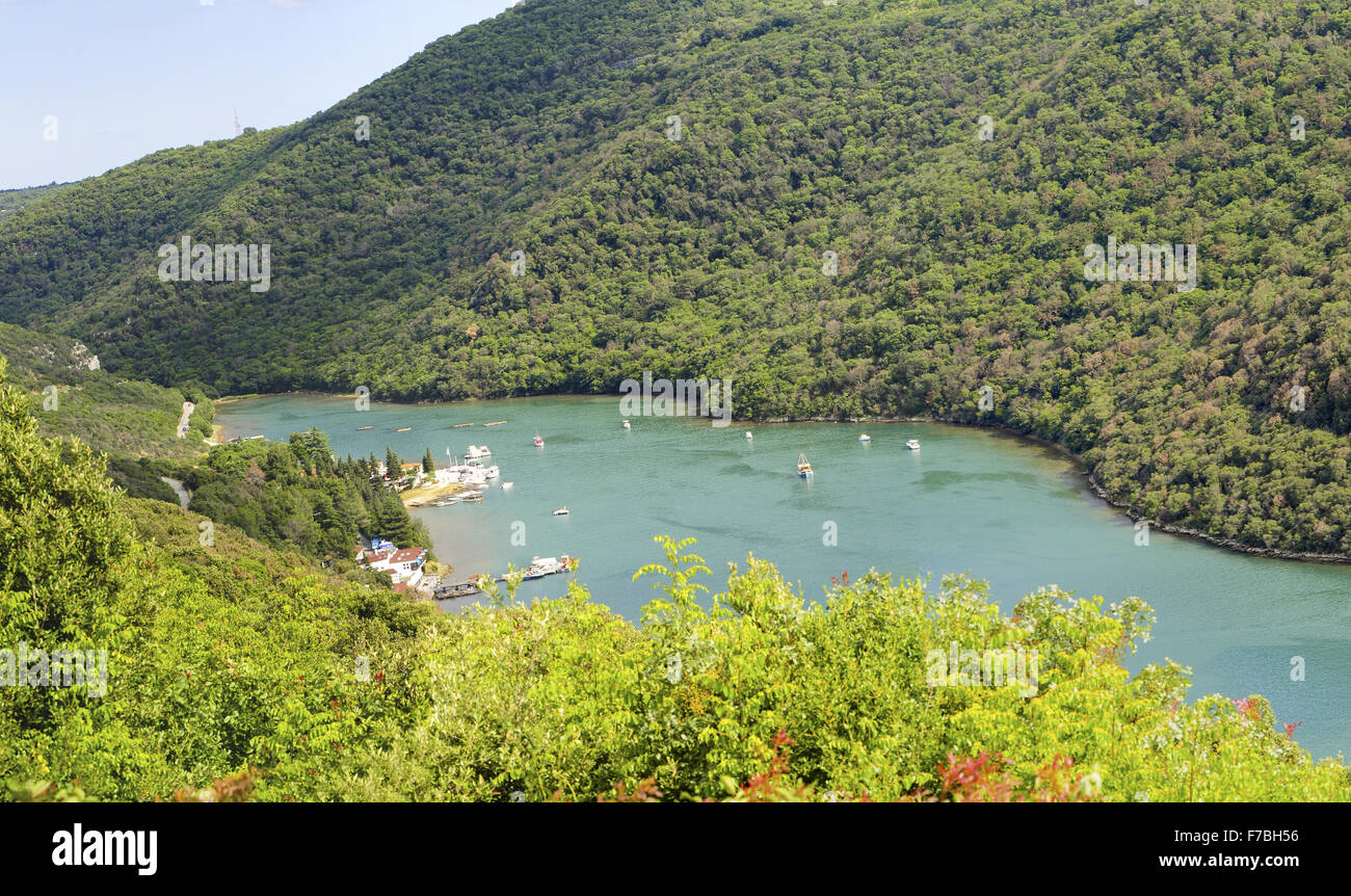 Istrie, Croatie, Fjord Limski Photo Stock