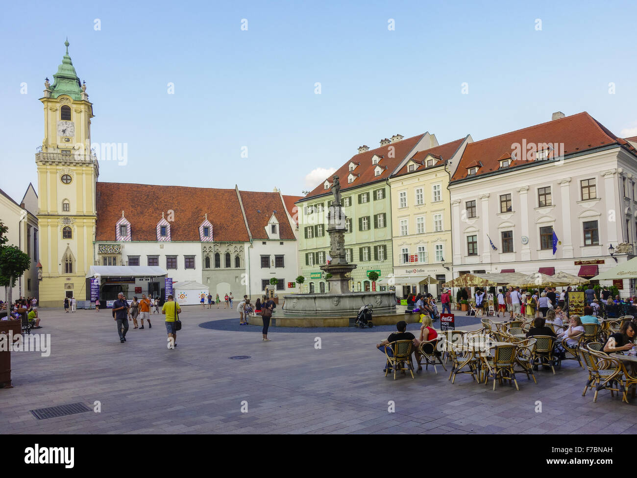 La Slovaquie, Bratislava, Presbourg, capitale, vieille ville, centre-ville Photo Stock