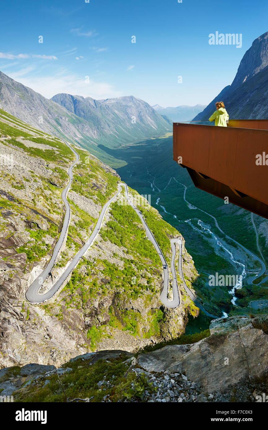 Route de haute montagne Trollstigen, Norvège Photo Stock