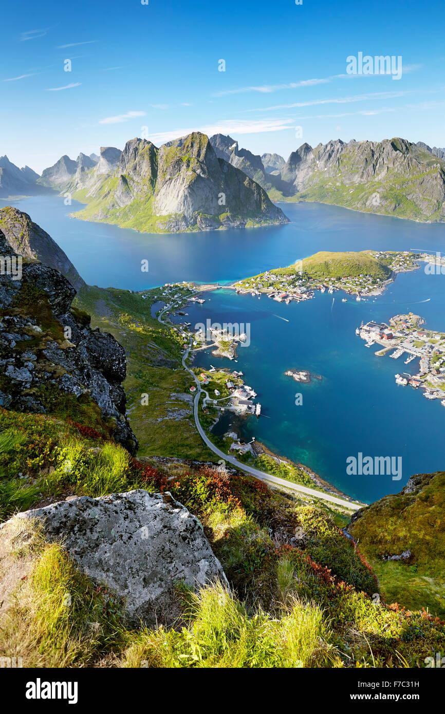 Les îles Lofoten, Reine, Moskenes, Norvège Photo Stock