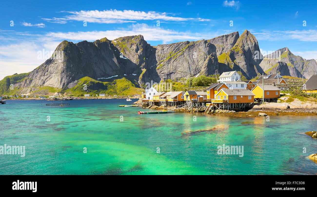 Les îles Lofoten, Norvège Moskenes, paysage Photo Stock