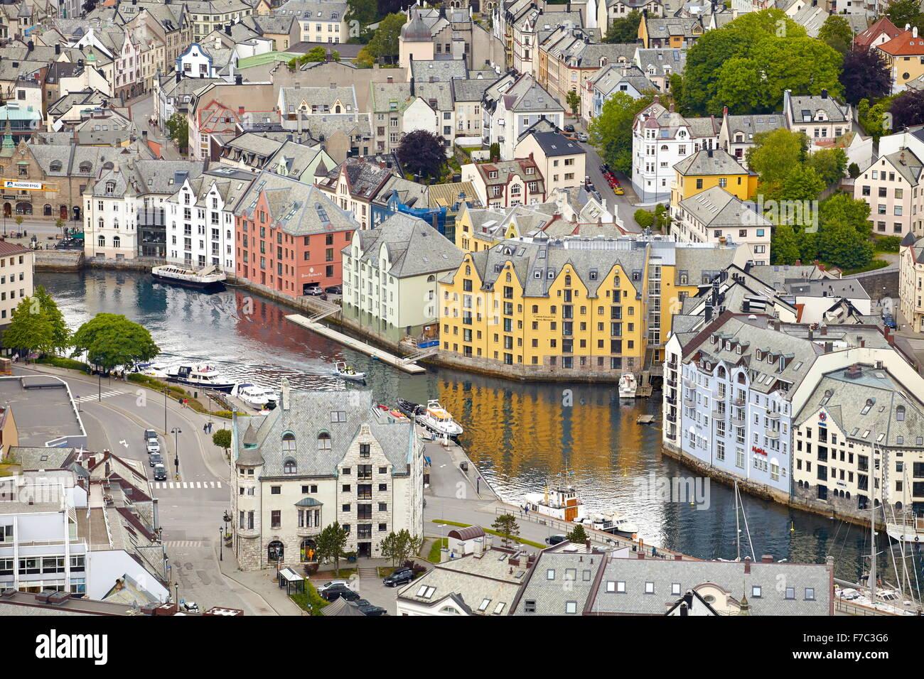 Alesund, More og Romsdal (Norvège) Photo Stock