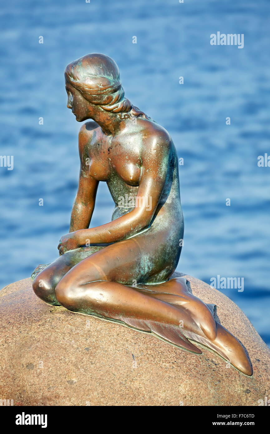 La Statue de la Petite Sirène, Copenhague, Danemark Photo Stock