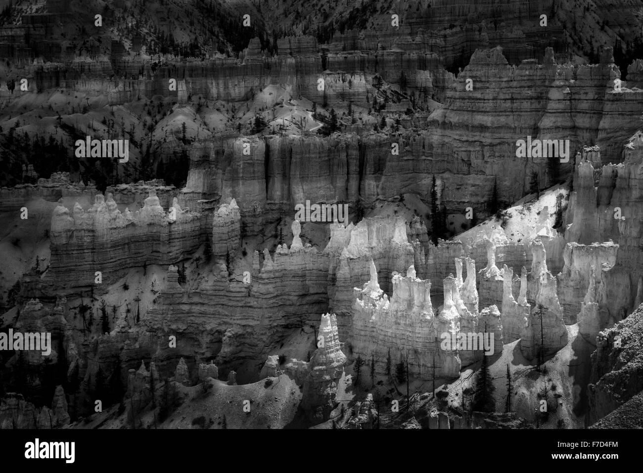 Les cheminées à Bryce National Park, Utah Photo Stock