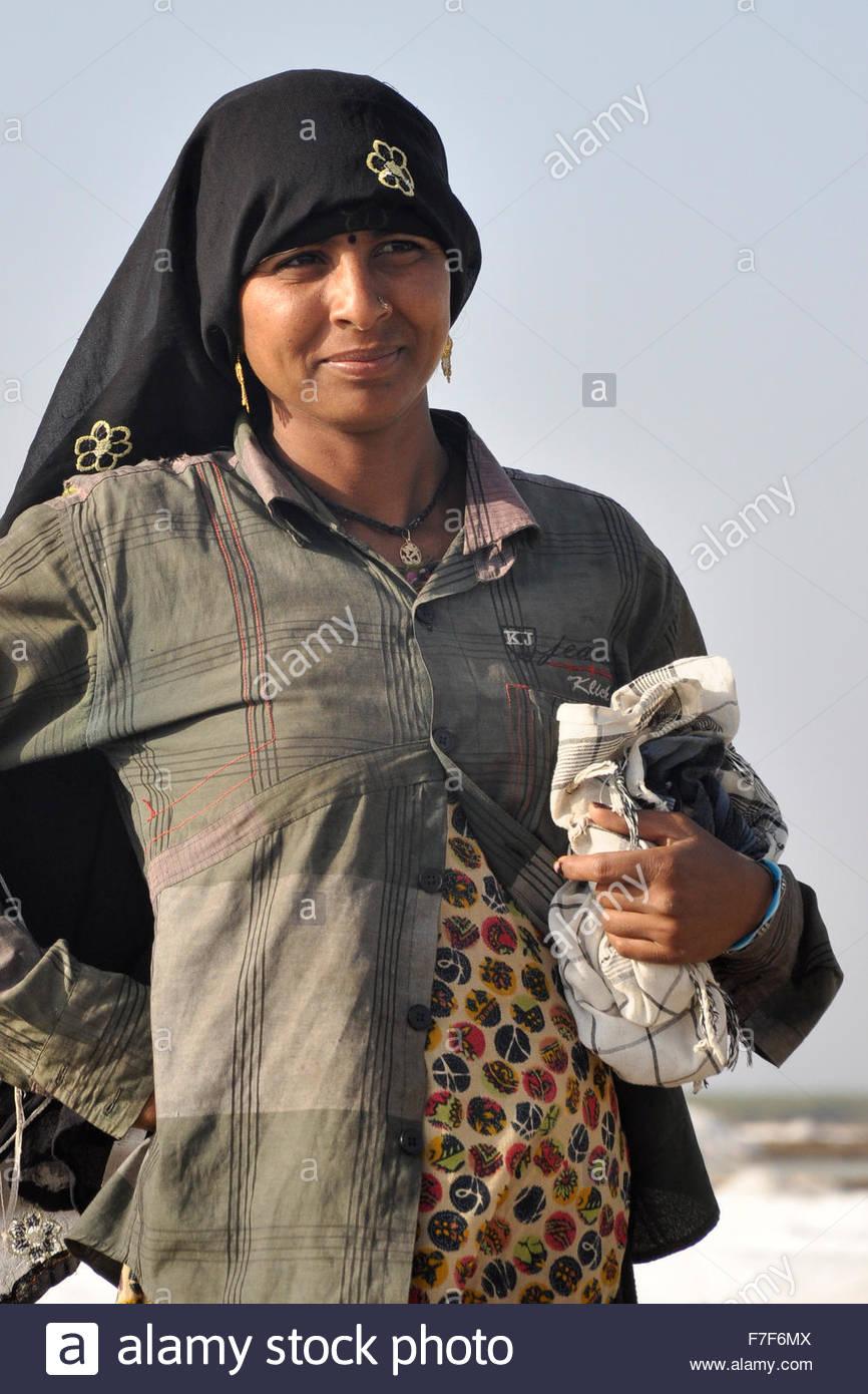 ,Gujarat Rann de Kutch,saline Banque D'Images