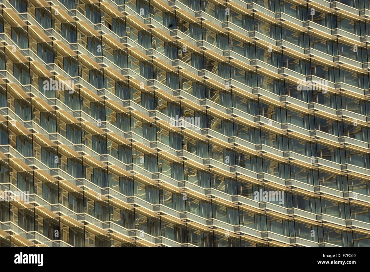 Les fenêtres de l'hôtel à Las Vegas, Nevada Photo Stock