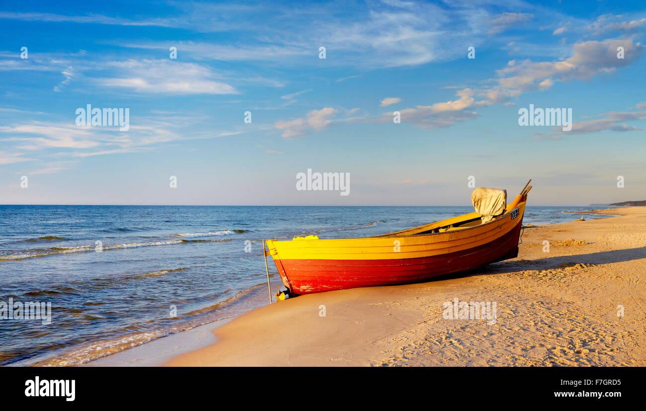 Paysage de la mer Baltique, occidentale, Pologne Photo Stock