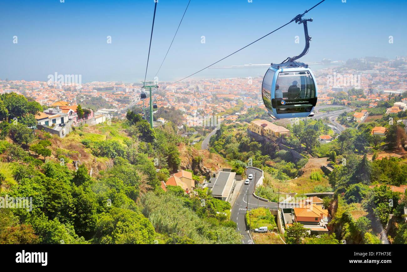Téléphérique pour Monte, Funchal, Madère, Portugal Photo Stock