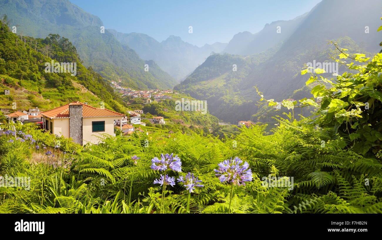 Paysage près de Santana, l'île de Madère, Portugal Photo Stock