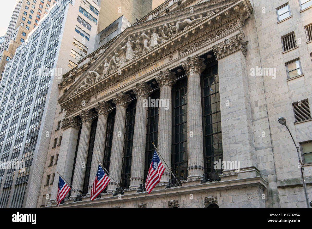 Bourse de New York, Wall Street, Lower Manhattan, New York, USA Photo Stock