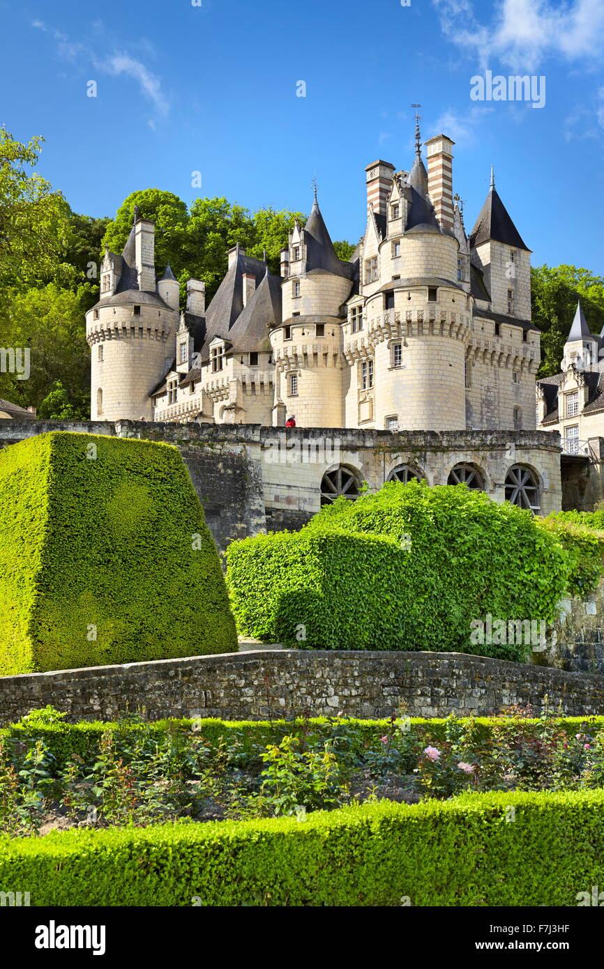 Château d'USSE, Usse, vallée de la Loire, France Photo Stock
