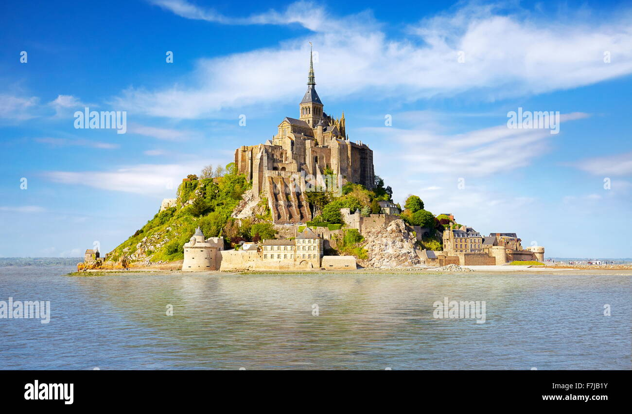 Mont Saint Michel, Normandie, France Photo Stock