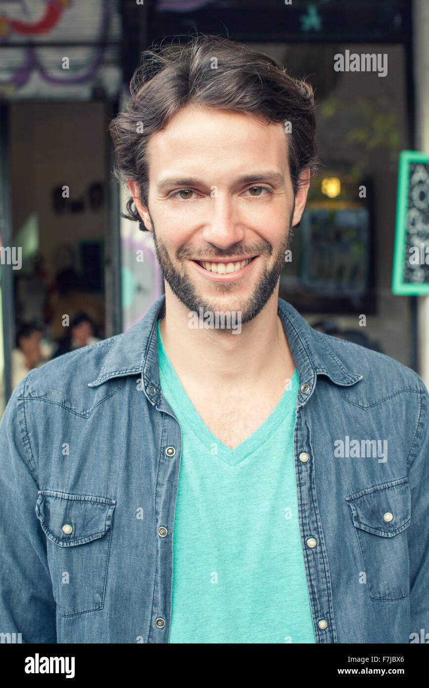 Homme, portrait Photo Stock