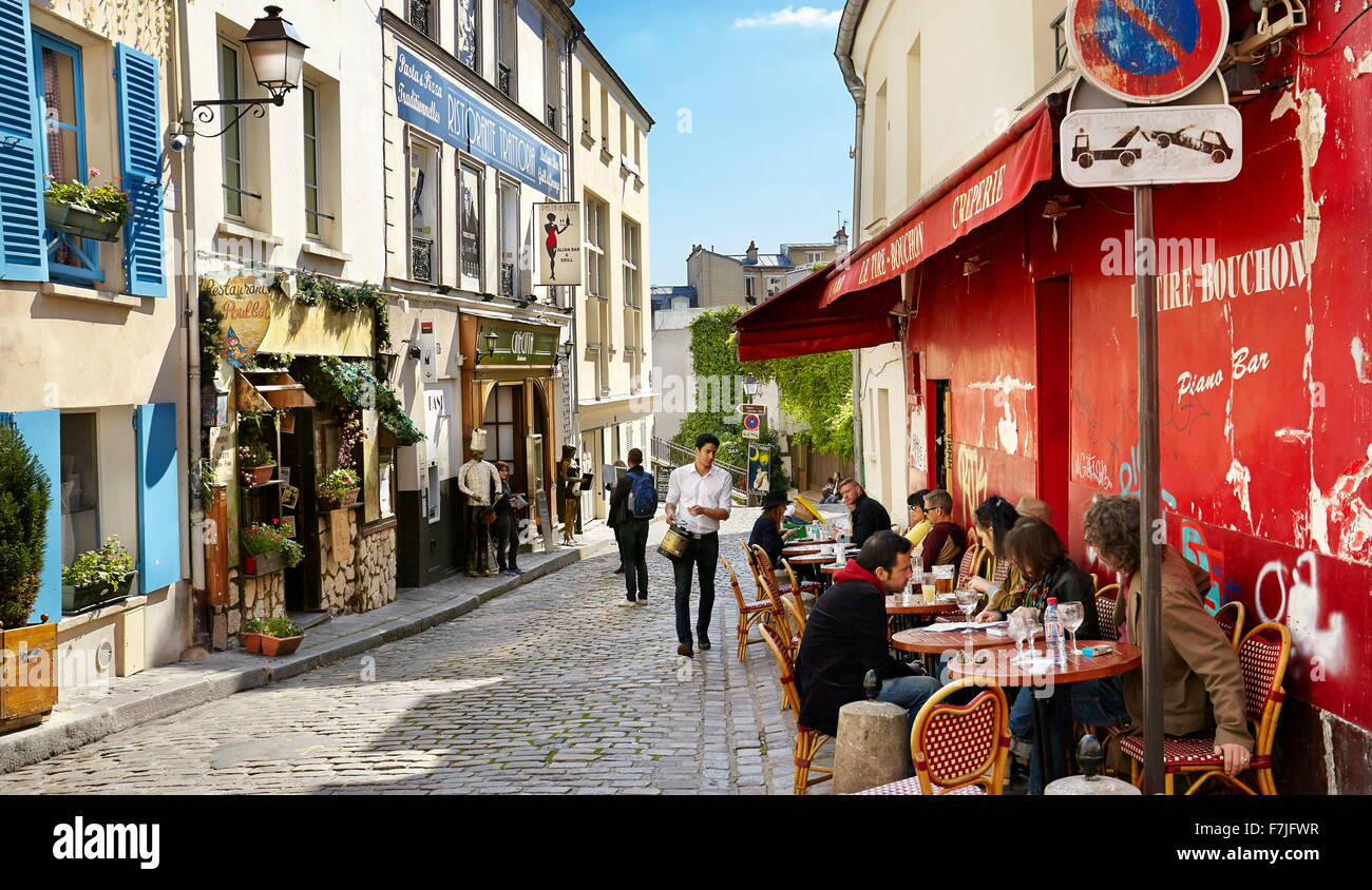 Quartier de Montmartre, Paris, France Photo Stock