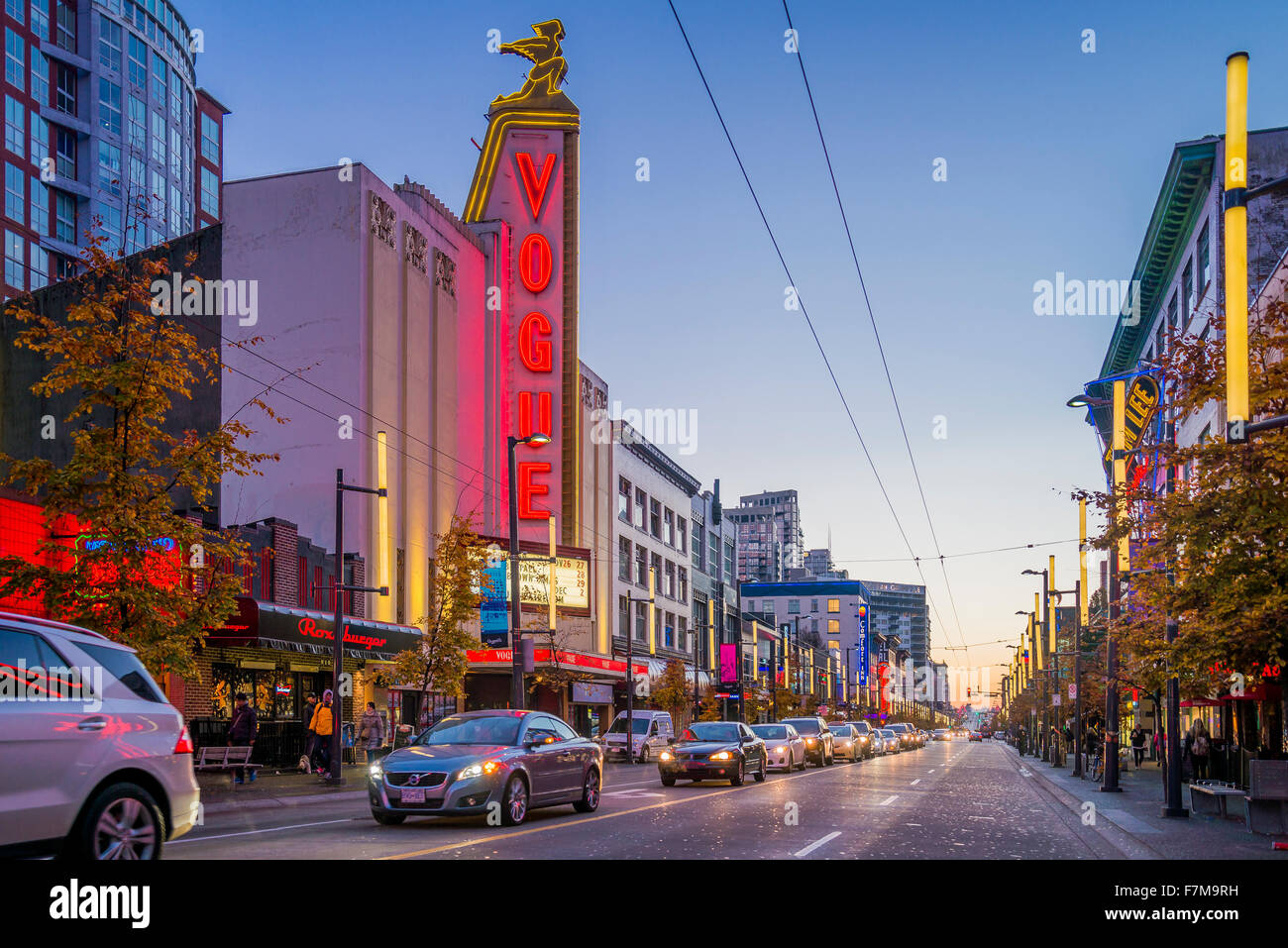 Vogue Theatre, Granville Street, Vancouver, British Columbia, Canada, Photo Stock