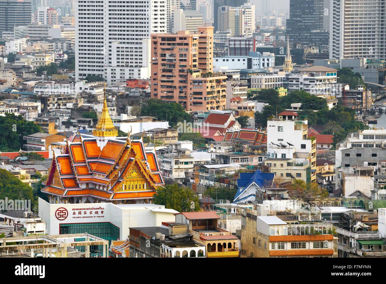 Bangkok ville, vue depuis le Grand China Princess Hotel, Bangkok, Thaïlande Photo Stock
