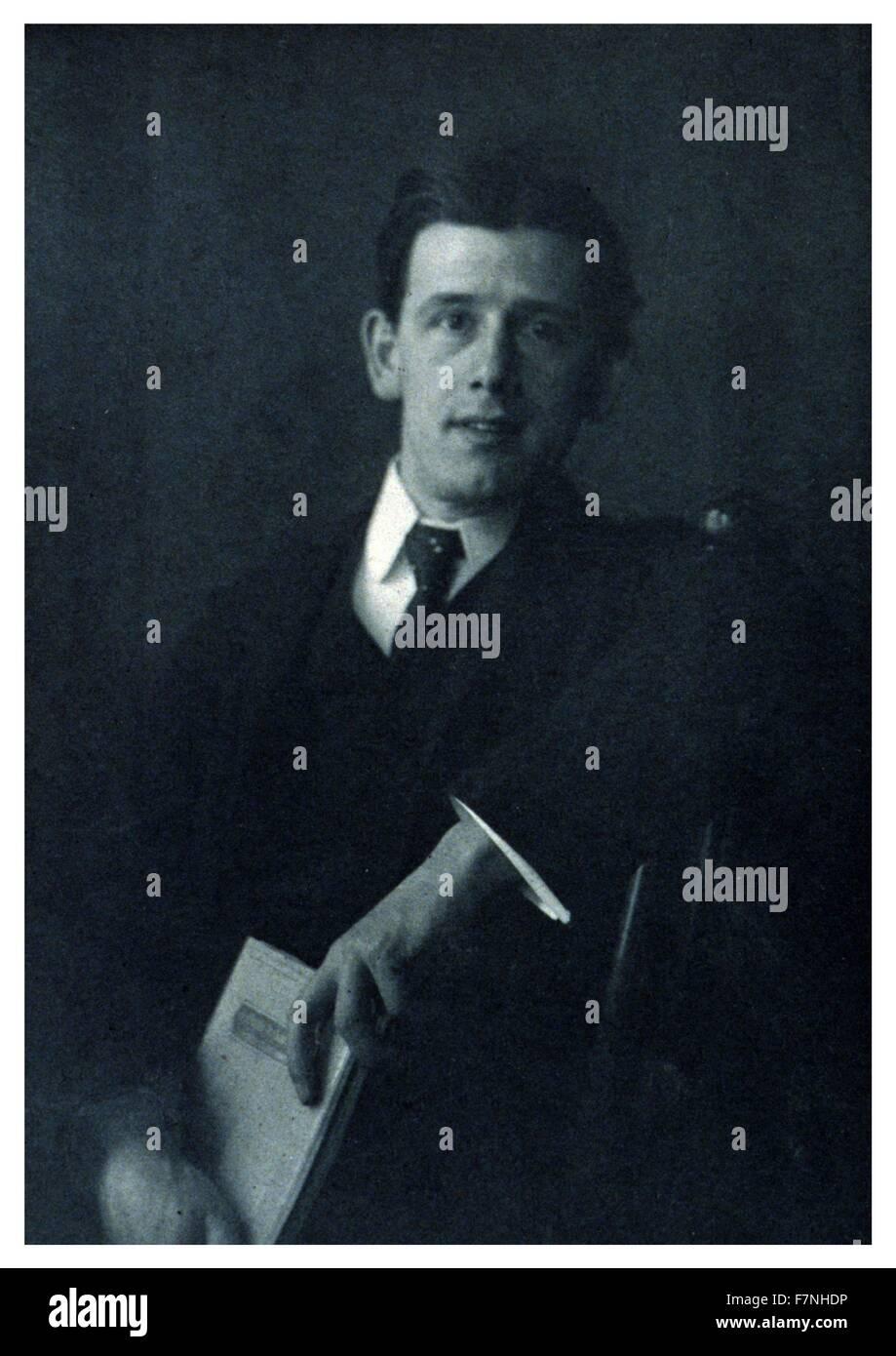 Clarence H. White (American, 1871-1925) Photographie de 1900 par Katharine Sheward Stanbery, 1870-1928. Hudson Clarence White était un photographe américain, professeur et membre fondateur du mouvement Photo-Secession. Banque D'Images