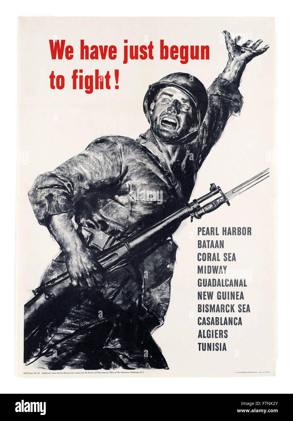 Seconde Guerre mondiale: Affiche de propagande américaine 1943 Banque D'Images