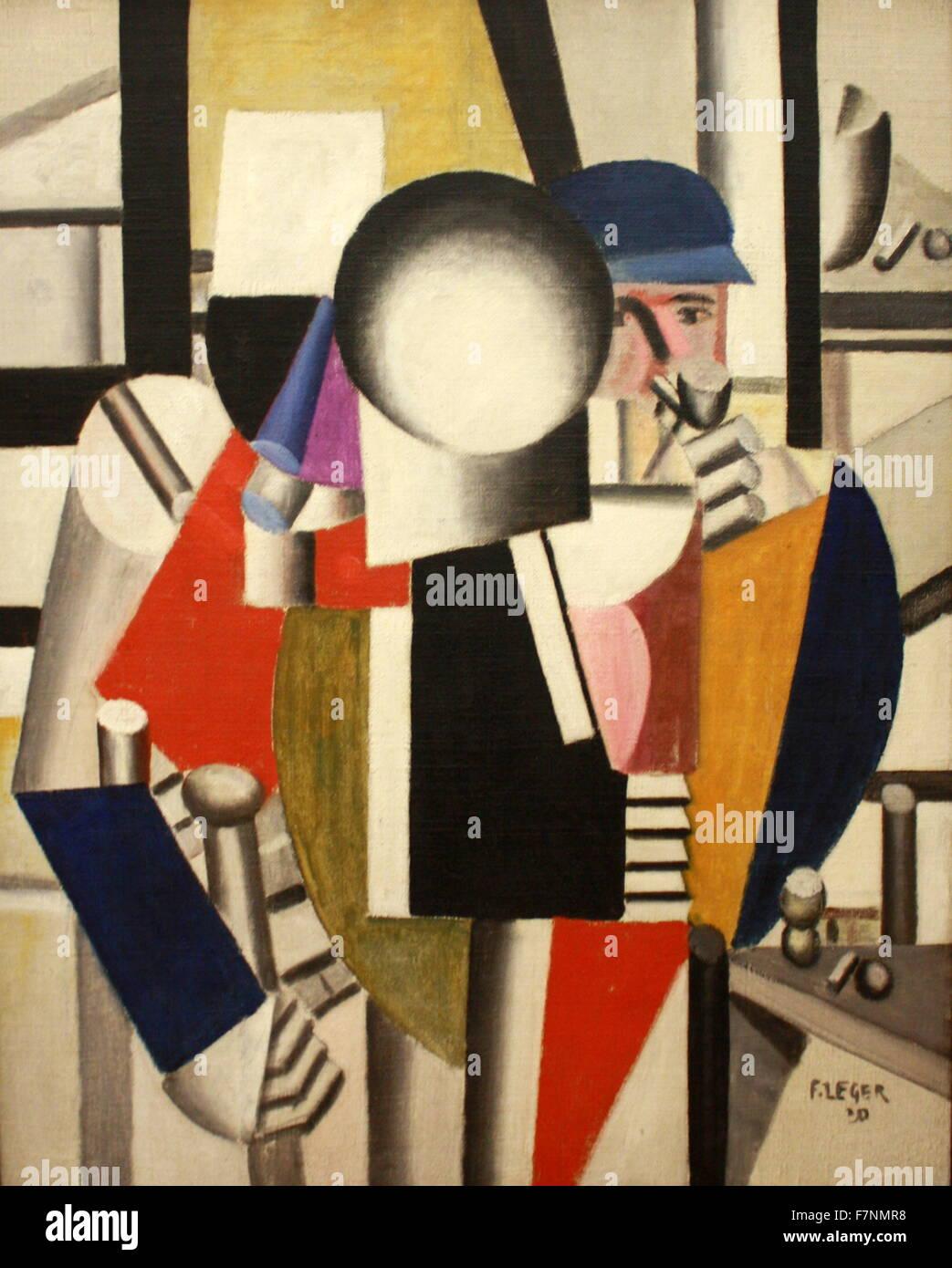 Les trois camarades de Fernand Léger. Photo Stock