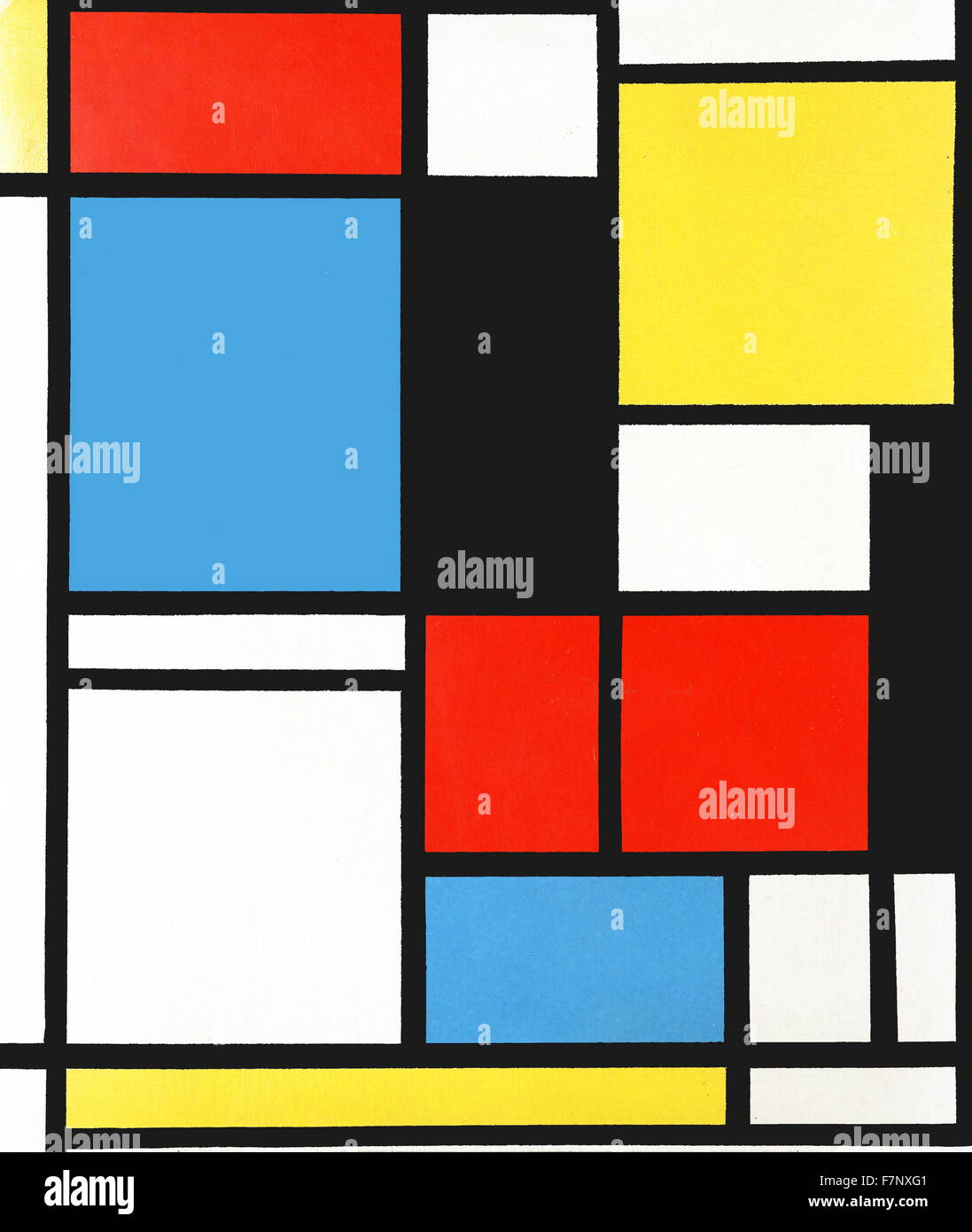 piet mondrian composition en bleu rouge et jaune 39 1921 pieter cornelis 39 piet mondrian 1872. Black Bedroom Furniture Sets. Home Design Ideas