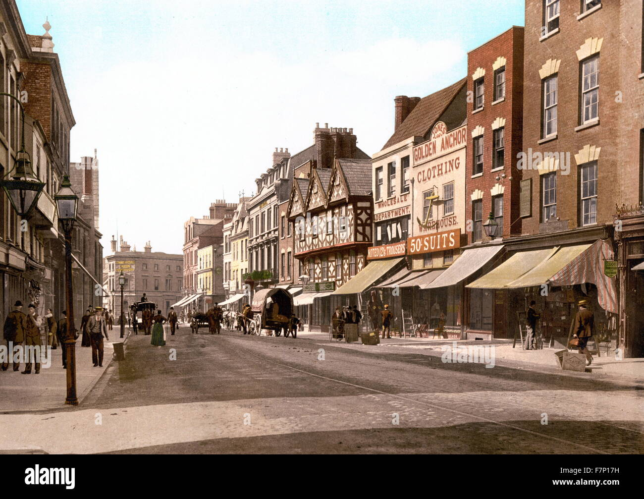 Southgate Street, Gloucester, Angleterre 1890 Photo Stock