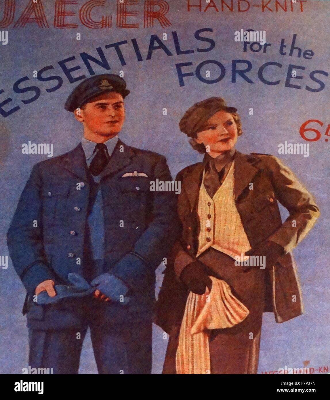 L'affiche de la seconde guerre mondiale. Datée 1939 Banque D'Images