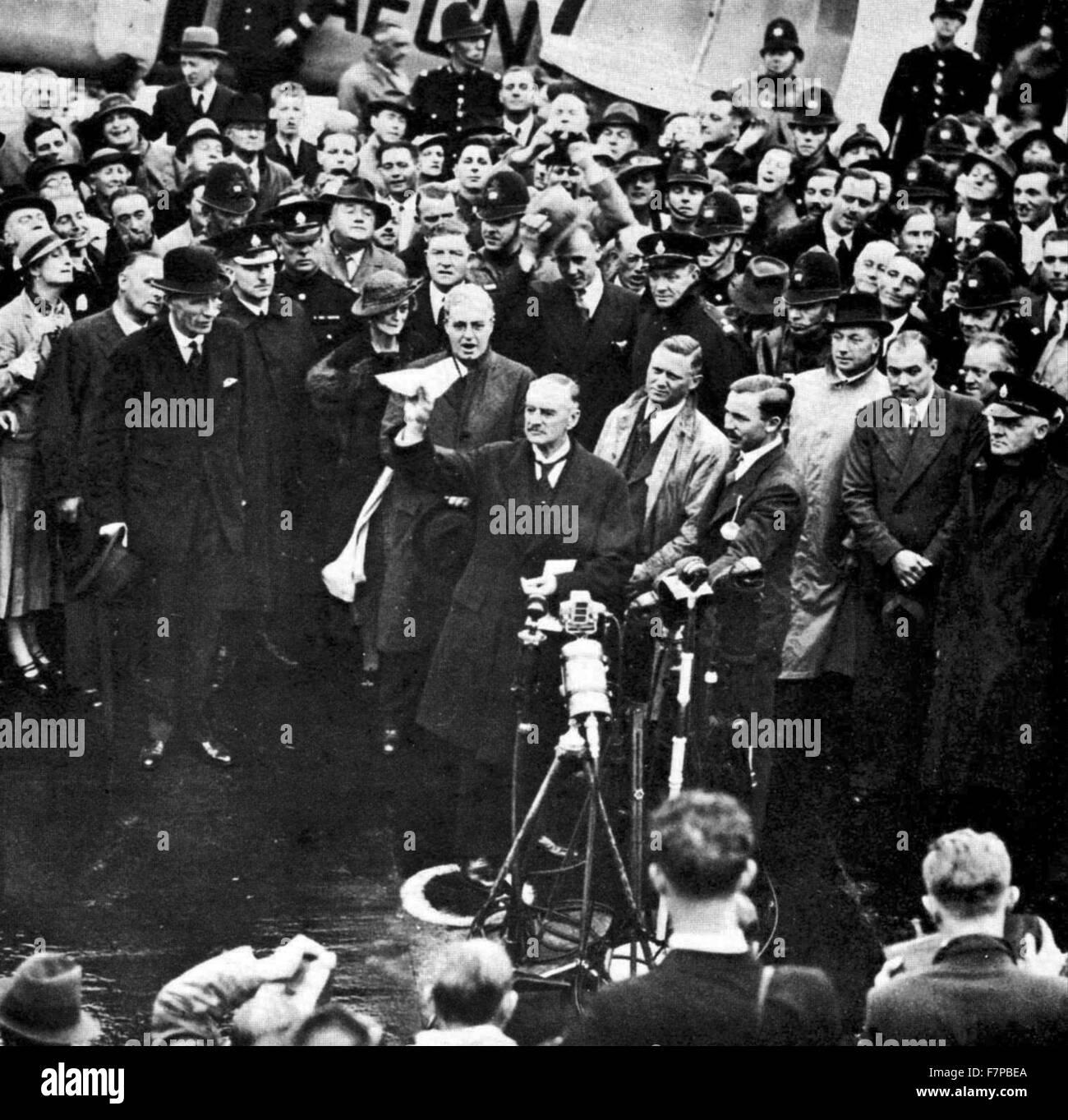 Arthur Neville Chamberlain (1869 - 9 novembre 1940) homme politique conservateur britannique qui a servi comme Premier Photo Stock