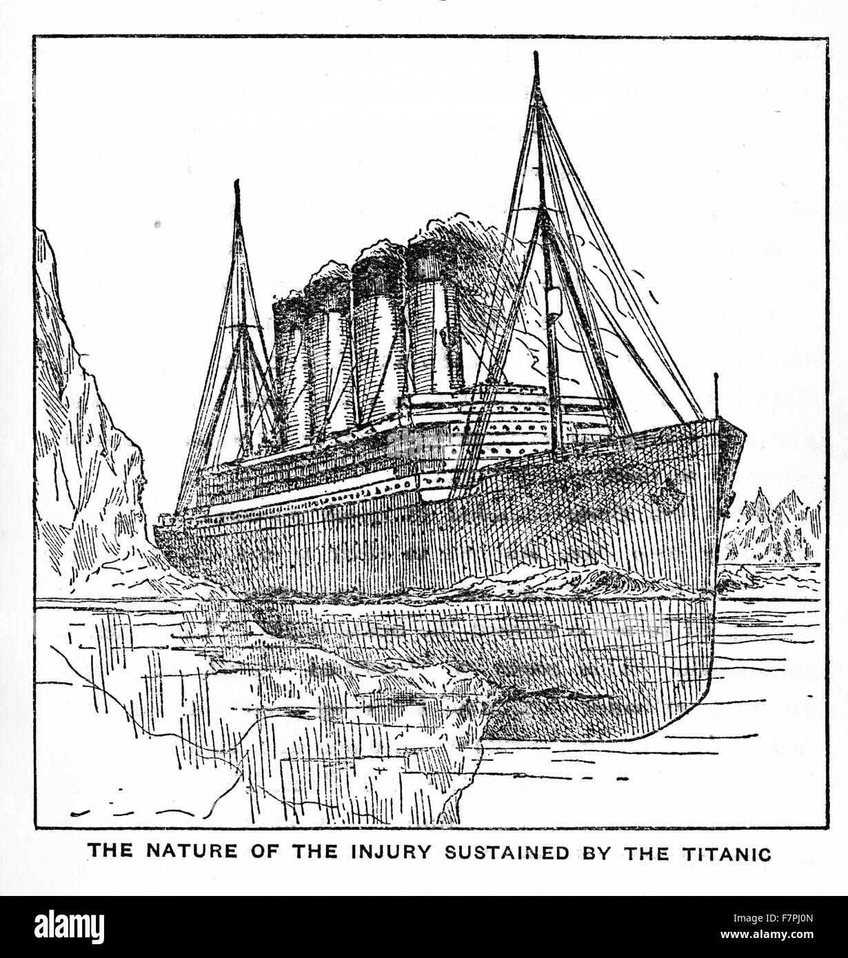 The Titanic Sinking Banque D Image Et Photos Alamy