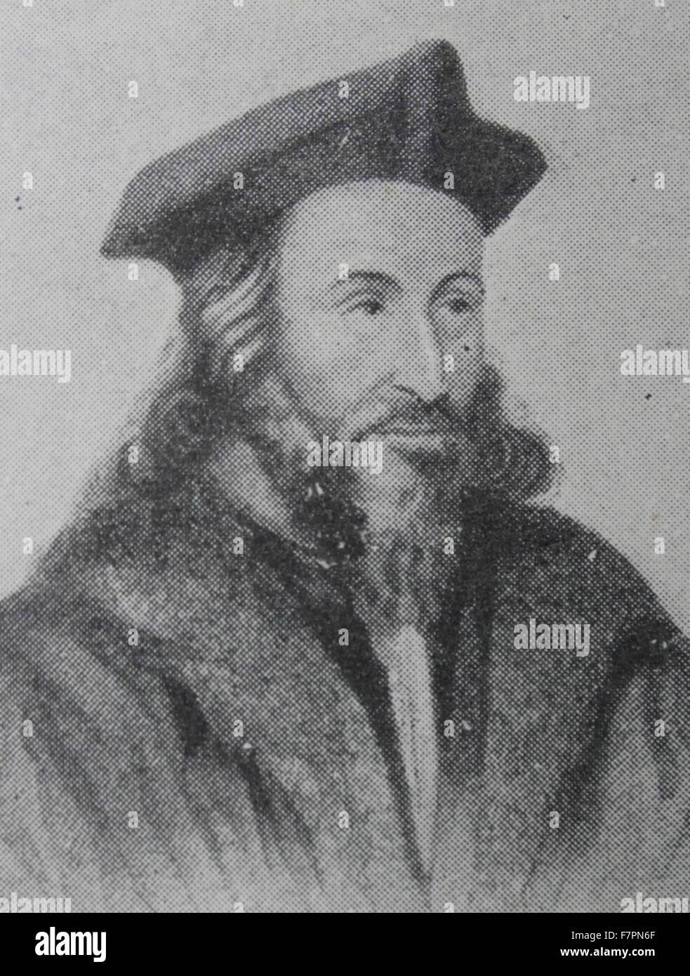 Un martyr hussite. Jerome, ou Jérôme de Prague a été l'un des nombreux réformateurs Photo Stock