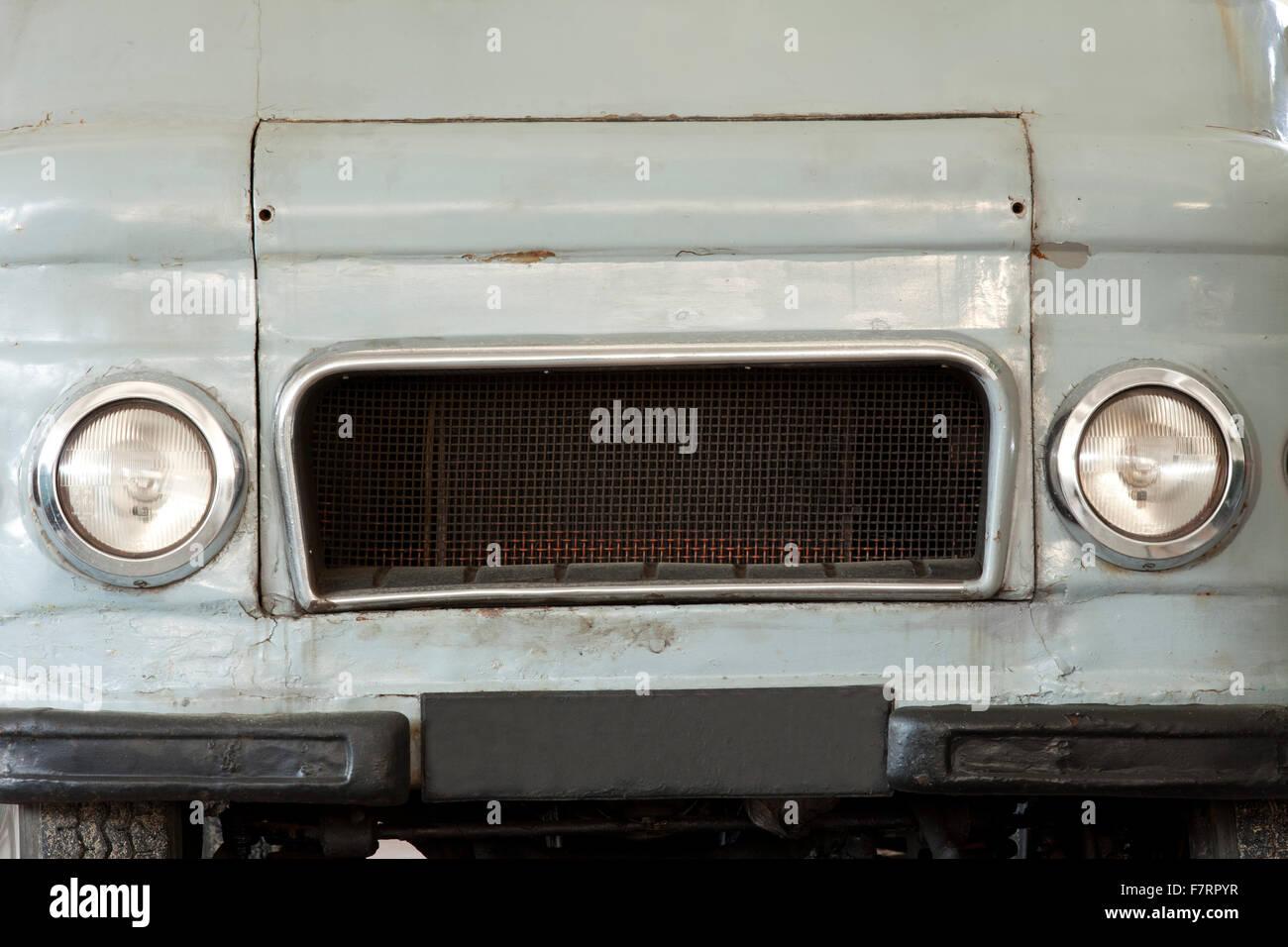 Corps avant de vieux camion ou camion vintage Photo Stock