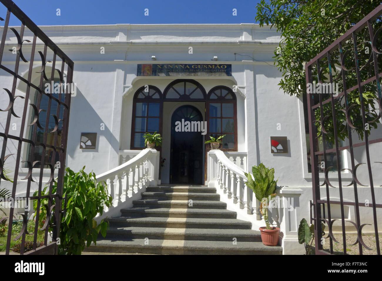 La salle de lecture de Xanana Gusmao à Dili au Timor oriental du nom de l'ancien premier ministre et président. Banque D'Images